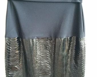 Gianfranco Ferre skirt in black python
