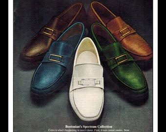 "Vintage Print Ad May 1969 : Bostonian Blazers Shoes Fashion Clothing Wall Art Decor 8.5"" x 11"" Advertisement"