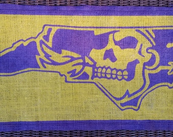 ECU pirate burlap decor
