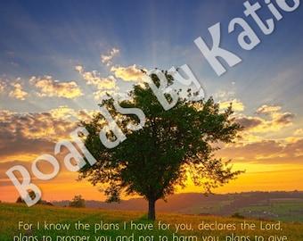 DIGITAL COPY-Personalized, Gift Ideas, Prayer, God, Religious, Faith, Hope,Inspirational,Jeremiah 29:11,
