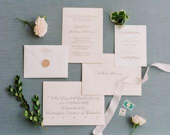 Calligraphy Wedding Invitation Design