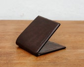 Kangaroo Leather Wallet Classic TALL - Black, Walnut Brown, Mocha, Chestnut, Natural, Red, Hand Stitched, Billfold Wallet, Leather Wallet