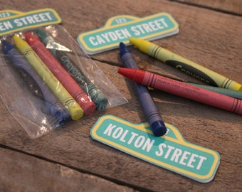 Party Favors  Sesame Street Crayon Gift Set. Set of 10