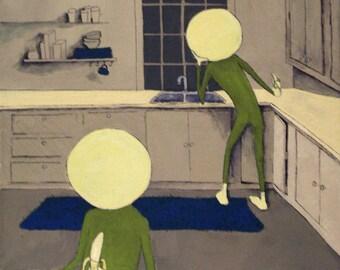 Original Painting Art Print - Yellowheads I
