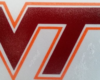 VT Vinyl Decal Sticker, Water Bottle Decal, Laptop Decal, Car Decal: 2-12inches