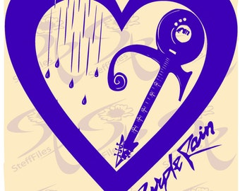 0226_ PRINCE Vector_Heart, Gitar,Purple Rain,Symbol love Prince,SVG,DXF,ai,png, eps,Signature,Prince music Download files,Digital, graphical