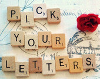 Custom scrabble tile letters