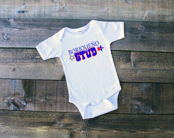 Cute Baby Clothes For Baby Boys - Puerto Rican - Cute Baby Clothes For Baby Girls - Stud - Cute Shirts With Sayings - Cool Baby Bodysuit