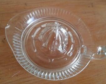 1950s vintage pressed glass reamer/juicer