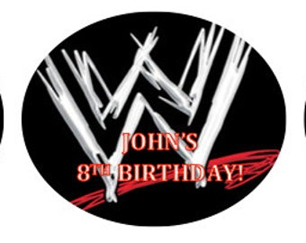 WWE wrestling raw cupcake toppers Stickers LABELS party favor Instant Download Printable Digital FIle