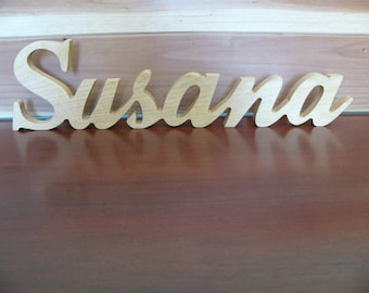 """Wooden Name Free Standing 20"""""""