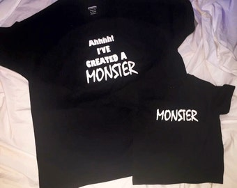 Fathers Day shirt set\\ Ive created a monster shirt set