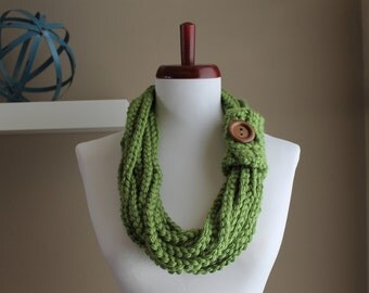 Crochet Rope Necklace Sage Green