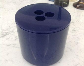 Mid Century Modern CRAYONNE Blue Plastic Ice Bucket Martin Roberts Conran Associates INPUT 14 England MOMA Classic Design 1970s 1973
