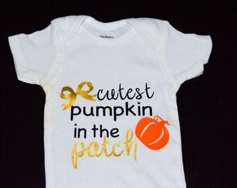 Cutest Pumpkin in the Patch, Halloween Onesie