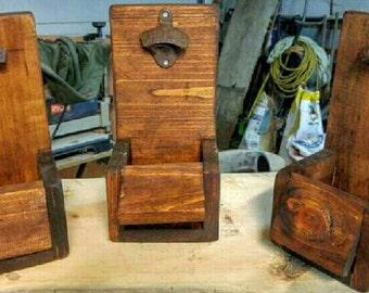 Bottle Opener Rustic Reclaimed Wood