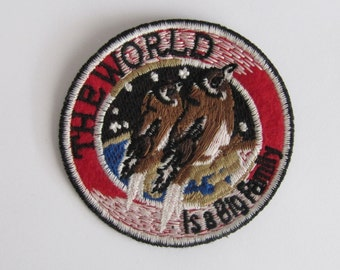 World Patch/Bird emblem /The world is a big family patch/ environmentalist