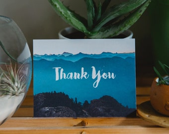 Vancouver, British Columbia | Mountains Thank you card | Eco friendly greeting card