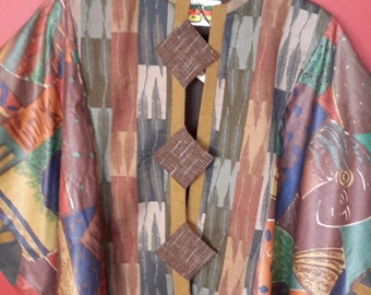 Jacket:  Leaves, Earthy Trims