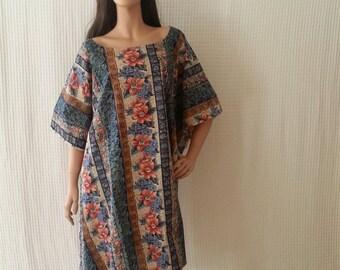 Plus size Indian Printed Cotton Kaftan Caftan dress boho summer dress cotton plus size dress indian plus size kaftan dress up to 5X