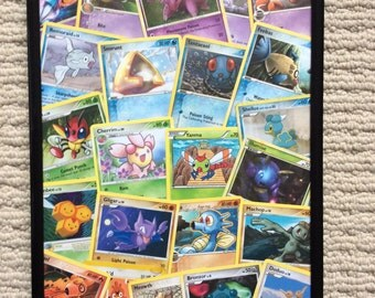 Framed Pokemon card collage - 21x30cm