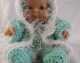Little Bitty crochet doll snow outfit