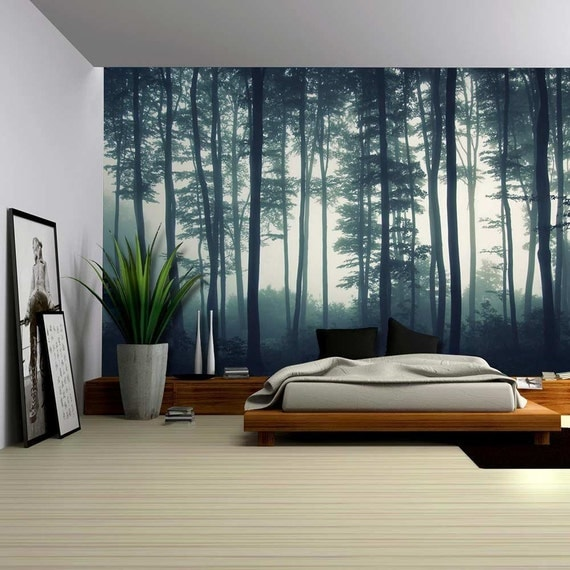 removable wallpaper murals forest - photo #11