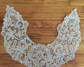 Handmade Battenburg Lace Collar