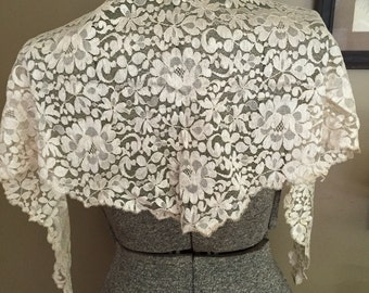 Victorian Silk Lace Shawl