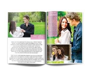 Wedding Magazine Programs PDF ONLY/Personalized Wedding Program