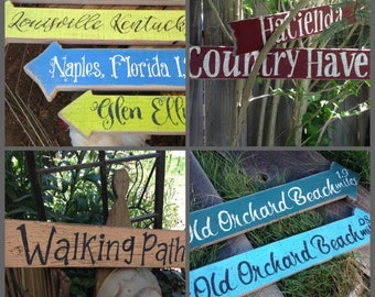 Rustic Signs, Outdoor Signs, Garden Signs, Family Name Sign, Wedding Sign, Bride and Groom Sign, Beach Signs, Directional Signs, Bar Signs