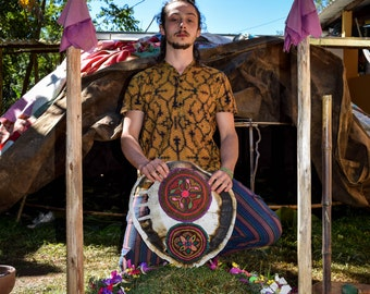 Shipibo t shirt, Sacred Geometry, Ocher Ayahuasca clothes, Psychedelic Clothes, entheogen clothes, gifts ideas for him, men style, tribal
