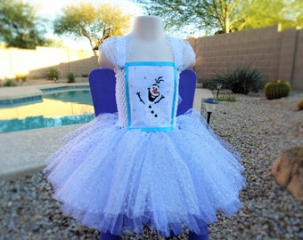 Olaf Inspired Tutu Dress, Halloween Tutu Costume.