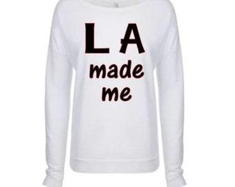 LA made me long sleeve scoop neck shirt