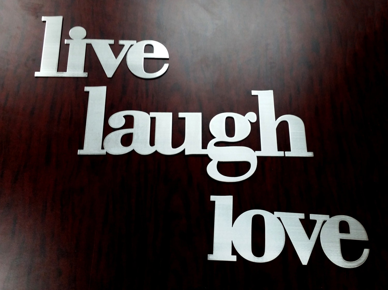 Live Laugh Love Words Metal Sign