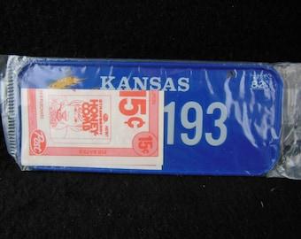 Kansas State Bicycle License Plate - 1982 Bike License Plate -Mini Colorful Metal Signs