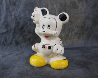 Mickey Mouse Ceramic Bank, Vintage Disney