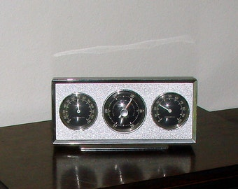 Vintage AirGuide Thermometer & More Great Retro Home Weather Station