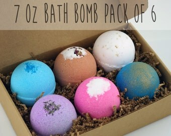 Pack of 6 Bath Bombs Set Extra Large 7oz Top Selling or You Pick Scent Handmade Shea Cocoa ...