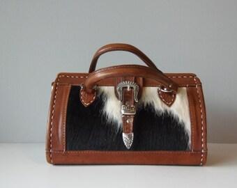 Black & White Cowhide Leather Purse
