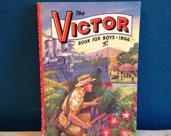 The victor book for boys vintage 1966 annual