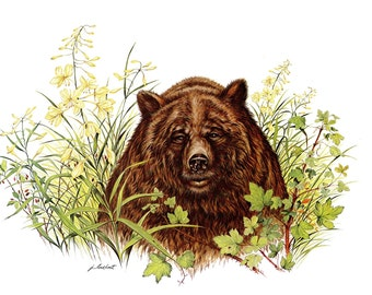 A Large Print painted by James Lockhart for the book Wild America
