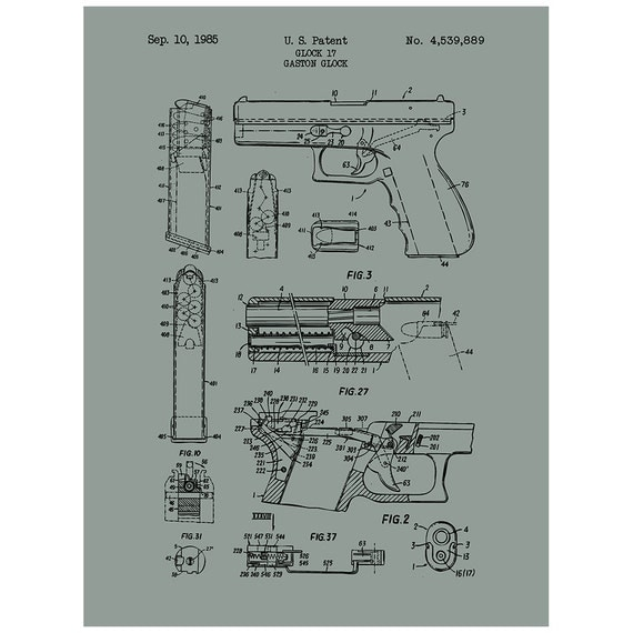 glock 17 handgun military and weapons patent by