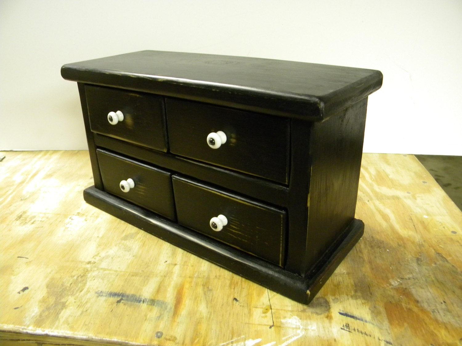 Four drawer apothecary table or counter cabinet for Apothecary table