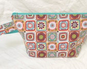 Granny Square Delight Medium Sized Basic Zippered Project Bag