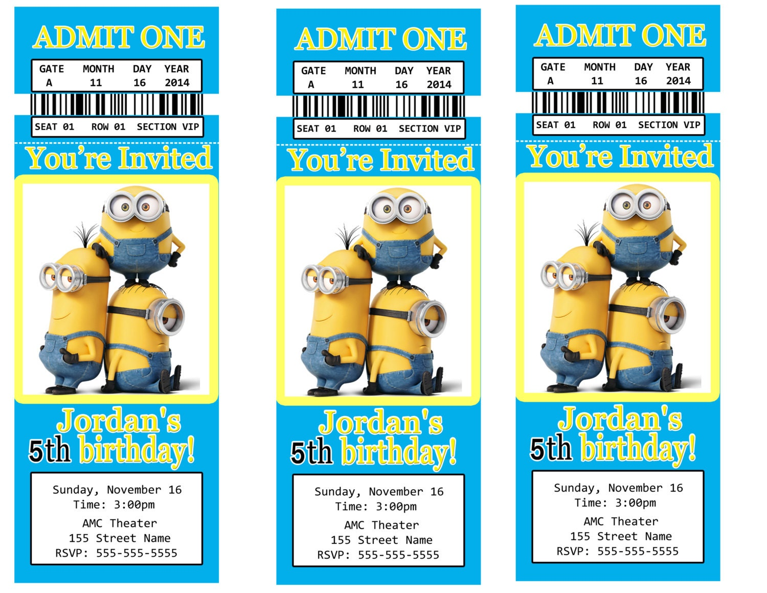 Despicable Me Birthday Invitations is great invitation example