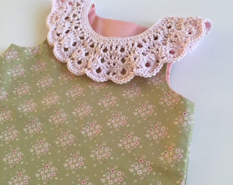 Crochet collar, peter pan collar, vintage crochet collar