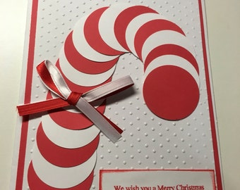 Candy Cane Christmas Card with envelope
