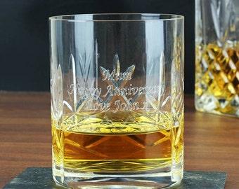 Personalised Tumbler - Crystal, Whisky, Whisky Tumbler, Drink Tumbler, Crystal Tumbler, Alcohol Tumbler