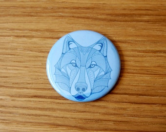 Wolf of Loyalty Pocket Mirror | Wolf Mirror | Gift Idea Party Favour | Party Bag Filler | Hand Mirror